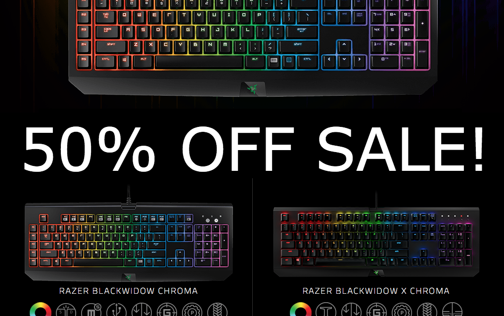 Razer 50% OFF Sale, TODAY Only (January 18, 2017)